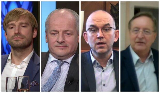 Adam Vojtěch, Roman Prymula, Jan Blatný a  Petr Arenberger. Foto: snímek obrazovky YouTube