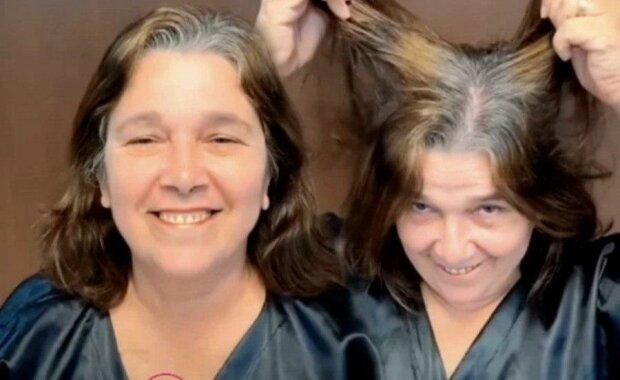 Z důchodkyně ve stylovou ženu: chtěla jsem si jenom barvit kořeny vlasů, ale mistr změnil  ji k nepoznání