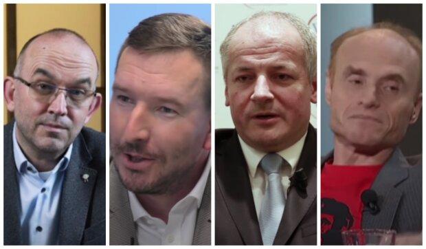 Jan Blatný, Jan Kubáček, Roman Prymula a Jaroslav Flegr. Foto: snímek obrazovky YouTube