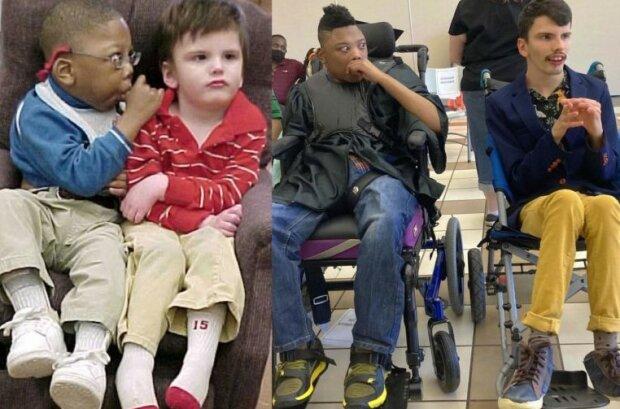 Na fotografii 2 kamarády, kterým lékařem bylo řečeno, že prožijí maximálně 5 let: Jak vypadají jak vypadají teď