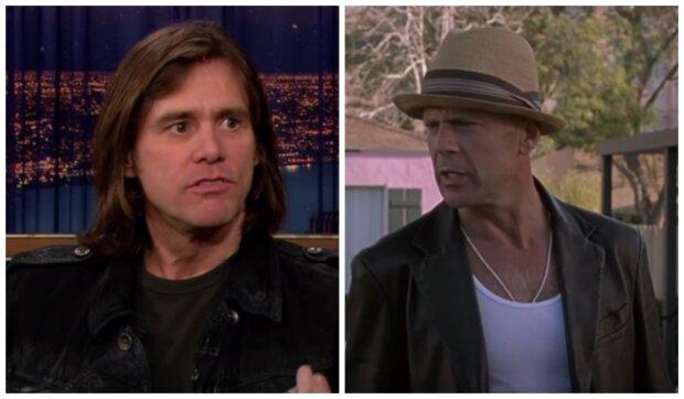 Bruce Willis a Jim Carrey. Foto: snímek obrazovky YouTube