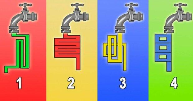 Jakým kohoutkem teče voda rychleji: Tento test vám pomůže zjistit, jak chytrý jste člověk a jakou představivost máte