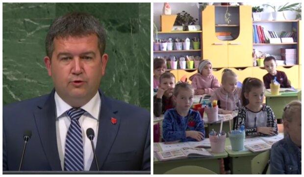 Jan Hamáček a děti. Foto: snímek obrazovky YouTube