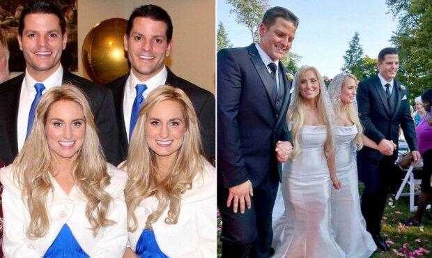 Dvojitá pohádka: sestry dvojčata se provdaly za bratry dvojčata, i pozvaní hoste taky byli dvojčata