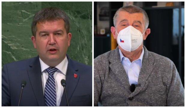 Jan Hamáček a Andrej Babiš. Foto: snímek obrazovky YouTube