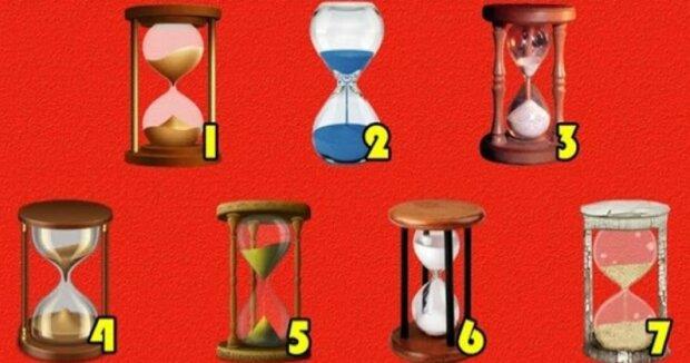 Vybrané přesýpací hodiny odhalí předpověď budoucnosti