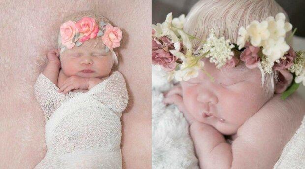 Byl to dar z nebes: dítě se narodilo s albinismem, je podobné andělovi